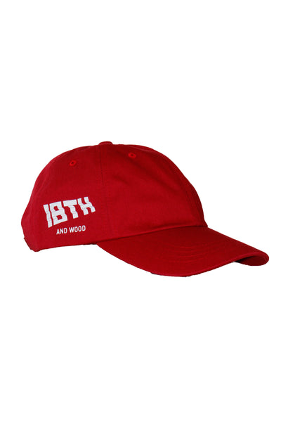 18th & Wood Red Logo Cap