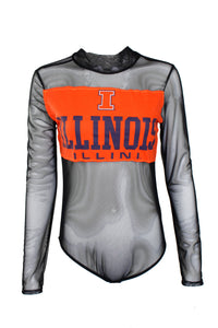 Reworked Vintage Fighting Illini Bodysuit
