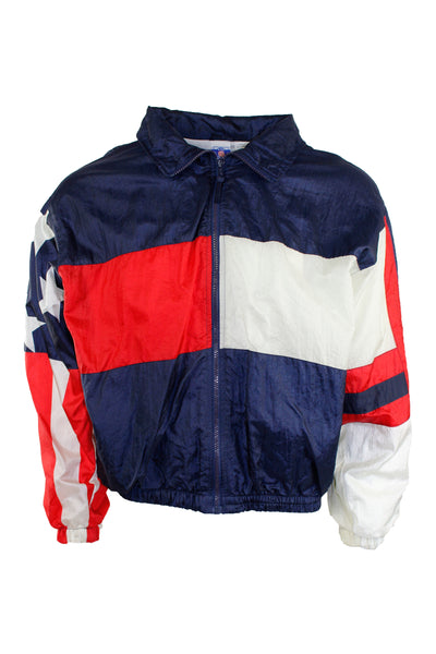 Vintage American Flag Windbreaker