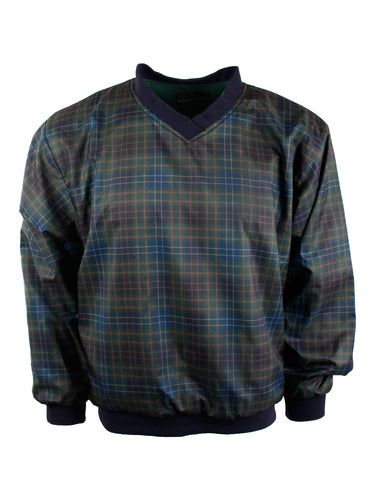 Vintage Green Plaid Pullover