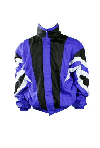 Vintage Black and Blue Windbreaker