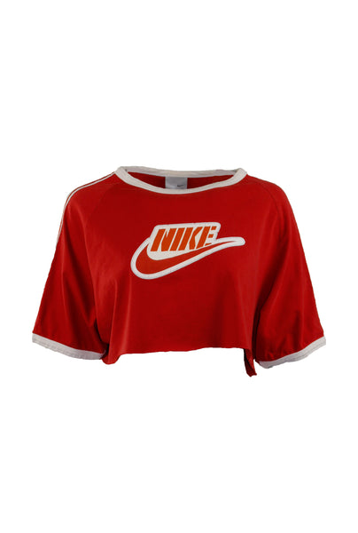 Reworked Vintage Cropped Red 90's Nike Tee