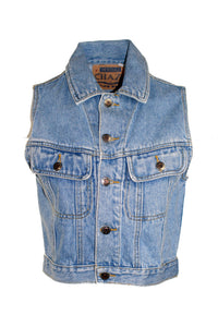 Vintage Chazzz Light Wash Jean Vest