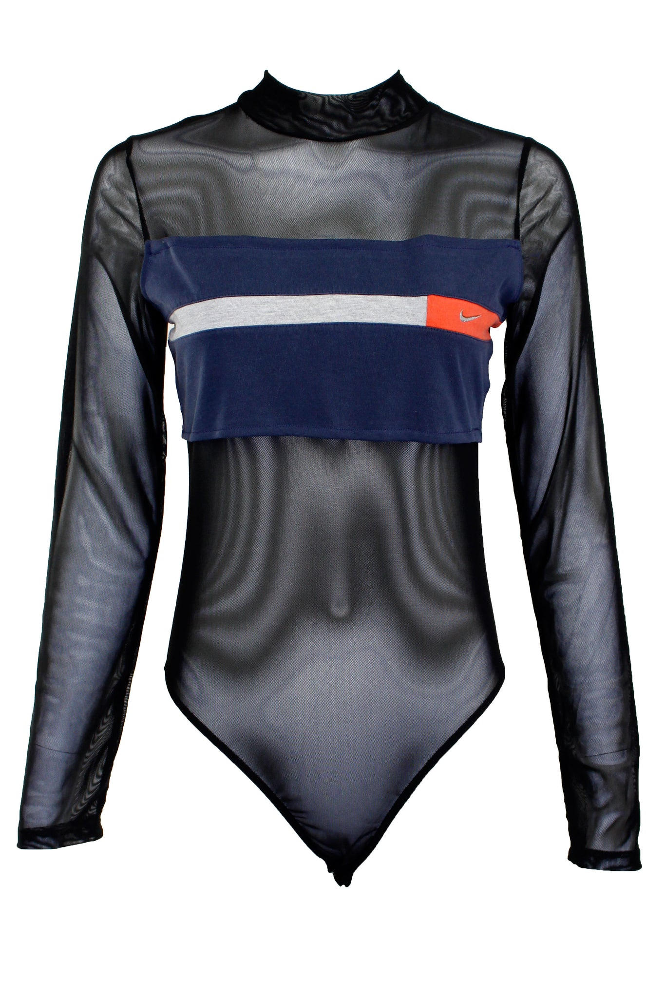 Reworked Vintage Nike Stripe Bodysuit