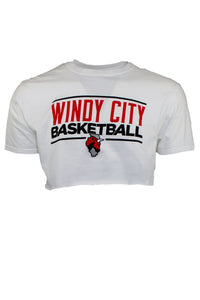 Reworked Vintage Windy City Basketball Crop Tee
