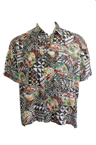 Vintage Silk Hawaiian Shirt