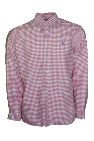 Vintage Polo By Ralph Lauren Pink Checkered Button Down