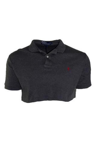 Reworked Vintage Ralph Lauren Cropped Grey Polo