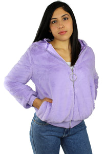 Purple Killa Cam Fur Bomber