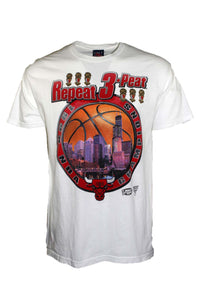 Vintage 1998 Bootleg Chicago Bulls Repeat 3-Peat Tee