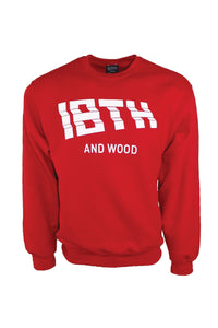 18th & Wood Red Logo Crew