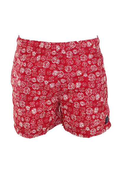 Vintage Red Swim Trunk Shorts