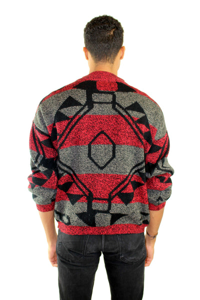 Vintage Magnetic Print Sweater