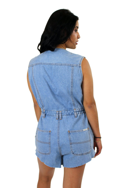 Reworked Vintage Denim Playsuit
