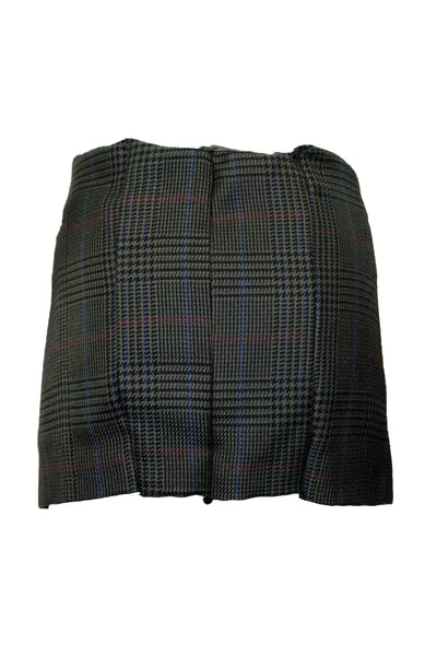 Reworked Vintage Plaid Houndstooth Skirt