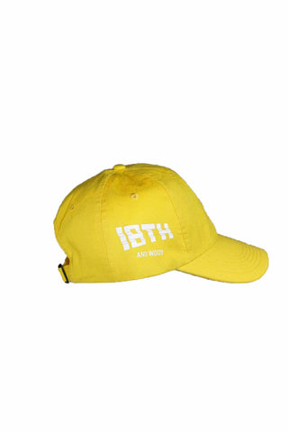 18th & Wood Yellow Logo Cap