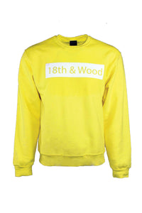 18th & Wood Yellow Logo Crew