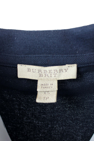 Reworked Vintage Burberry Cropped Polo