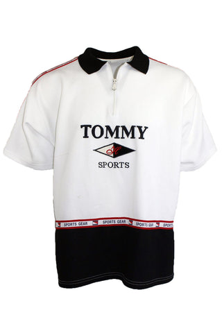 Vintage Bootleg Tommy Hilfiger 1/4 Zip Polo