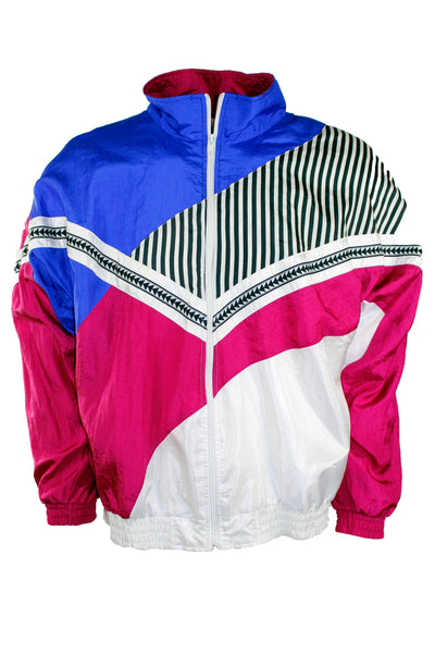 Vintage Geometric Windbreaker