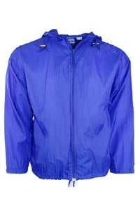 Vintage Solid Blue Windbreaker