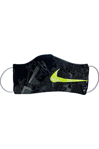 Reworked Vintage Nike Black & Neon Face Mask