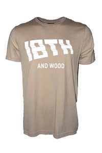 18th & Wood Tan Logo Tee