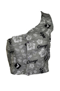 Reworked Hawaiian Chicago White Sox One Shoulder Top