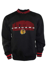 Vintage NHL Starter Chicago Blackhawks Black Crewneck