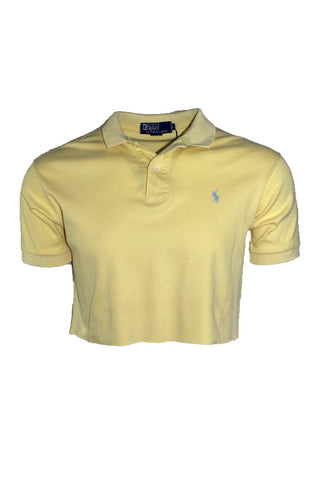 Reworked Vintage Ralph Lauren Cropped Yellow Polo