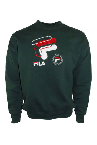 Vintage Green Fila Italia International Crewneck