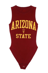Reworked Vintage Arizona State University Bodysuit