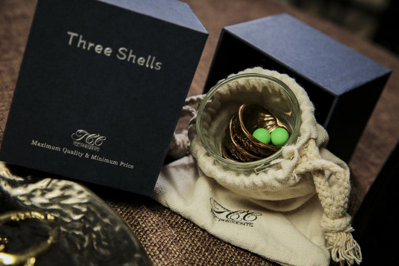 10TH ANNIVERSARY RELEASE|THREE SHELLS BY TCC