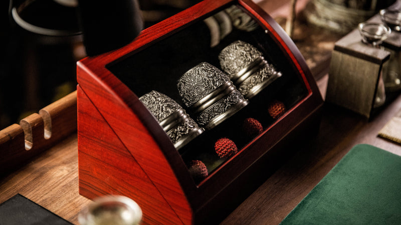 ARTISAN ENGRAVED CUPS AND BALLS BY TCC
