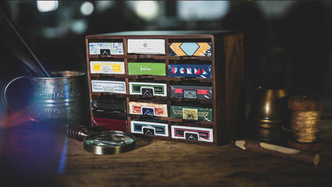 WOODEN PLAYING CARDS CABINET  BY TCC