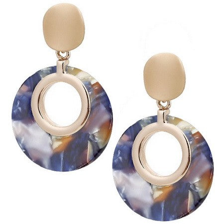 SA CUTOUT RESIN CIRCLE EARRINGS