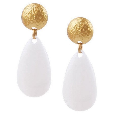 SA MUSTARD FURY BALL DROP EARRINGS