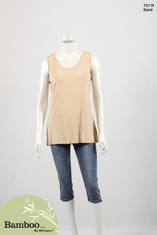 BAMBOO BY WHISPERS SHORT SLEEVE TOP T2119002250