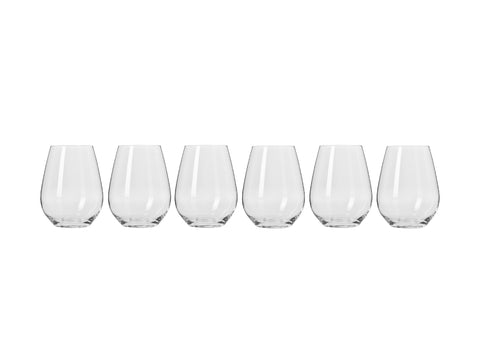 MW KROSNO Harmony Stemless WINE GLASS 400ML 6PC GIFT BOXED