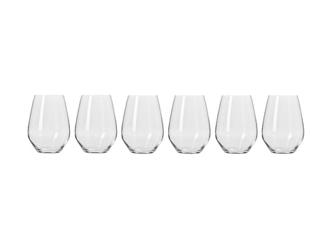 MW KROSNO Harmony Stemless WINE GLASS 540ML 6PC GIFT BOXED