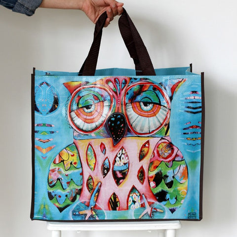 ALLEN DESIGNS OWL SHOPPING BAG