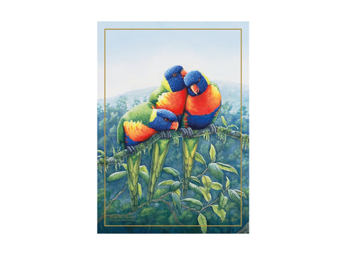 MW Birds of Australia KC 10yr Anniversary Tea Towel 50x70cm Lorikeet