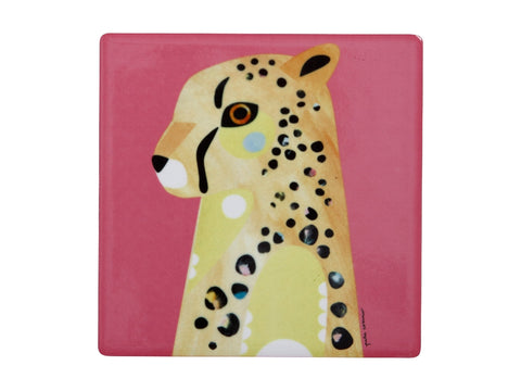 MW Pete Cromer Wildlife Ceramic Square Coaster 9.5cm Cheetah