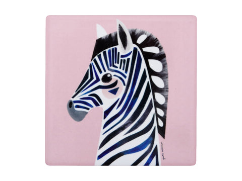 MW Pete Cromer Wildlife Ceramic Square Coaster 9.5cm Zebra