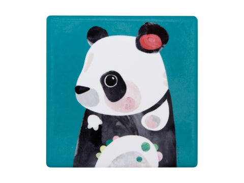 MW Pete Cromer Wildlife Ceramic Square Coaster 9.5cm Panda