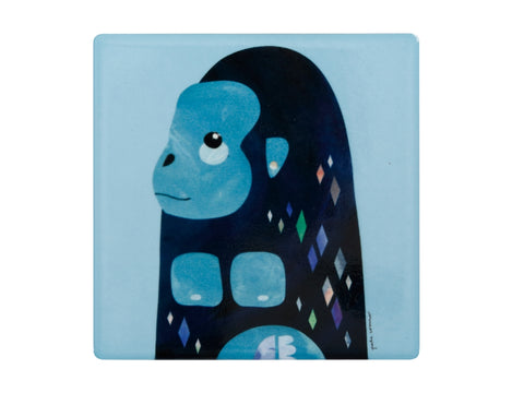 MW Pete Cromer Wildlife Ceramic Square Coaster 9.5cm Gorilla