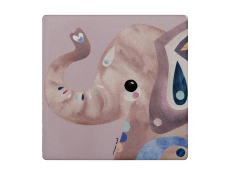MW Pete Cromer Wildlife Ceramic Square Coaster 9.5cm Elephant