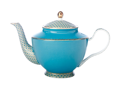 MW Teas & C's Classic Teapot with Infuser 1L Aqua Gift Boxed