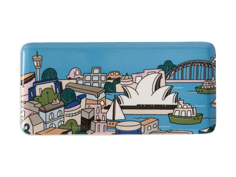 MW Megan McKean Cities Rectangle Plate 25x12cm Sydney Gift Boxed