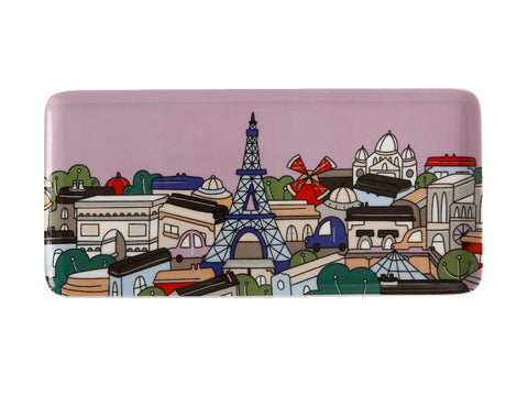 MW Megan McKean Cities Rectangle Plate 25x12cm Paris Gift Boxed